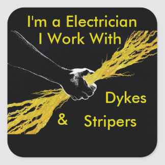 Electricians sticker