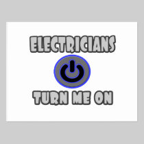 Electricians Turn Me On Post Cards