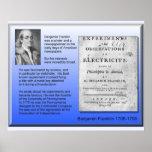 Electricidad Benjamin Franklin de la física de la  Poster