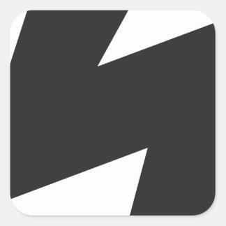 Electricidad eléctrica del trueno del símbolo pegatina cuadrada
