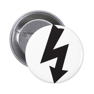 Electricidad eléctrica del trueno del símbolo pin redondo de 2 pulgadas
