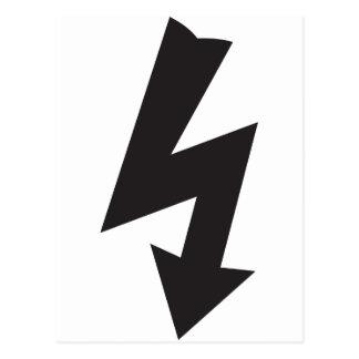 Electricidad eléctrica del trueno del símbolo tarjeta postal