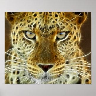 Electricidad que brilla intensamente 2 del guepard impresiones