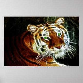 Electricidad que brilla intensamente 2 del tigre d impresiones