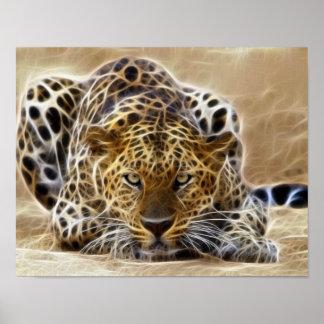 electricidad que brilla intensamente del guepardo impresiones