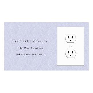 Electricista/azul de cielo eléctrico de la luz del tarjetas de visita