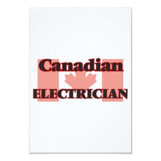 """Electricista canadiense invitación 3.5"""" x 5"""""""