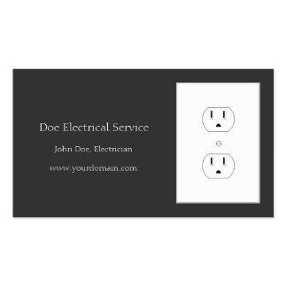 Electricista/contratista eléctrico/carbón de leña tarjetas de visita