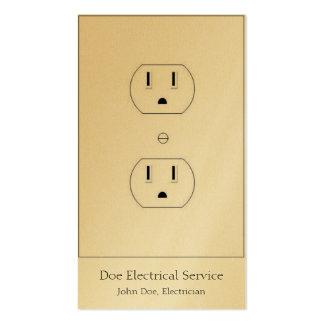 Electricista/contratista eléctrico/de oro vertical tarjetas de visita