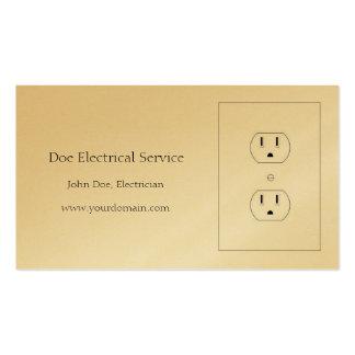 Electricista/contratista eléctrico/papel de oro tarjetas de visita