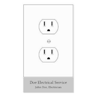 Electricista/contratista eléctrico/plata vertical tarjetas de visita