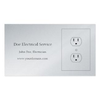 Electricista/contratista/papel eléctricos del tarjetas de visita