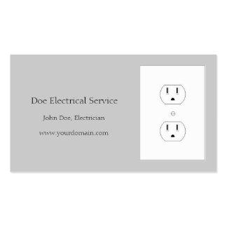 Electricista/contratista/plata eléctricos tarjetas de visita
