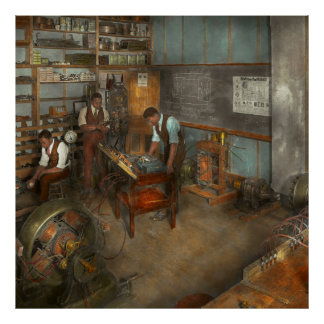 Electricista - curso 1915 de la ingeniería póster