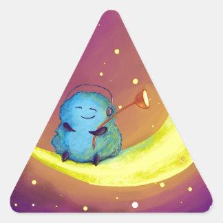 Electricista de la estrella pegatina triangular