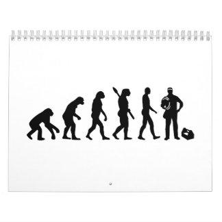 Electricista de la evolución calendario