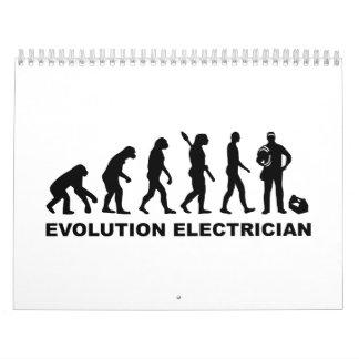 Electricista de la evolución calendario de pared