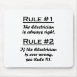 Electricista de la regla tapetes de ratones