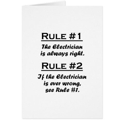 Electricista de la regla tarjeton