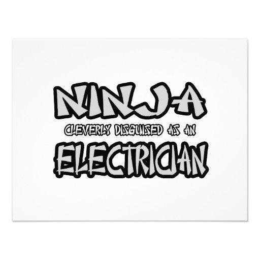 Electricista de Ninja… Invitación Personalizada