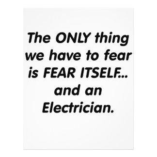 Electricista del miedo tarjeta publicitaria