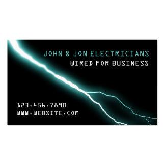 Electricista, eléctrico, tarjeta de visita de