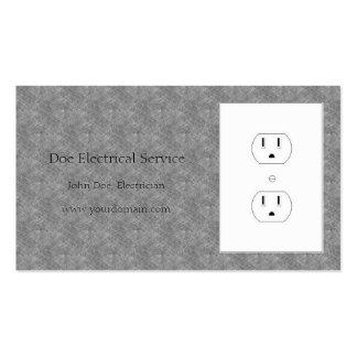 Electricista/mármol eléctrico del gris azul del tarjetas de visita