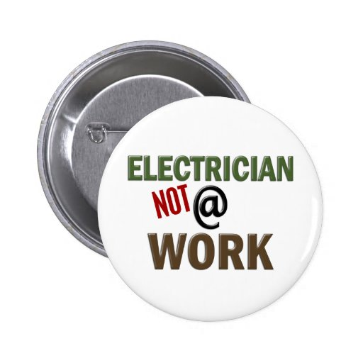 Electricista NO en el trabajo Pin