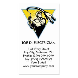 Electricista o instalador de líneas del poder que plantillas de tarjetas de visita