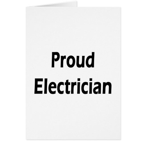 Electricista orgulloso tarjeton