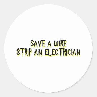Electricista Etiquetas Redondas