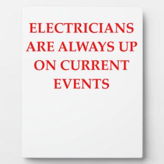 electricista placas con fotos