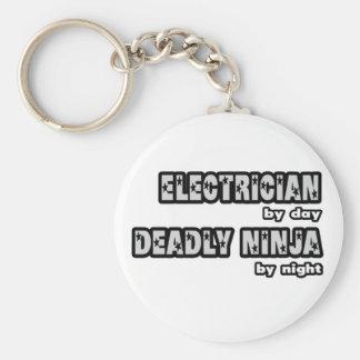 Electricista por el día… muerto Ninja por noche Llaveros