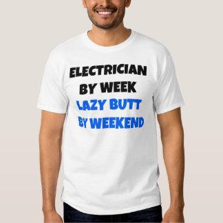 Electricista por extremo perezoso de la semana por remeras