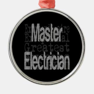 Electricista principal Extraordinaire Adorno Navideño Redondo De Metal