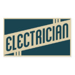 electricista retro plantillas de tarjeta de negocio