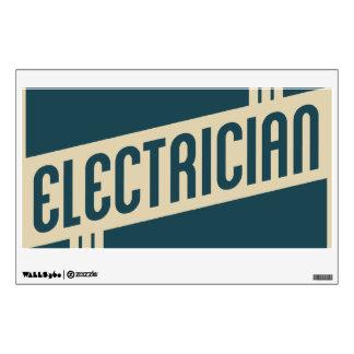 electricista retro vinilo decorativo