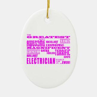 Electricistas de los chicas: Electricista más gran Ornamentos De Navidad