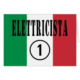 Electricistas italianos: Uno de Elettricista Tarjeta De Felicitación