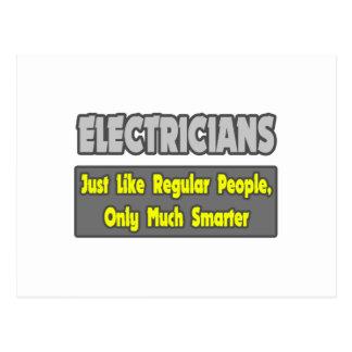 Electricistas… más elegantes postal