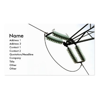 Electricity Business Card Template