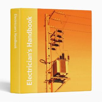 Electricity distribution equipment binder