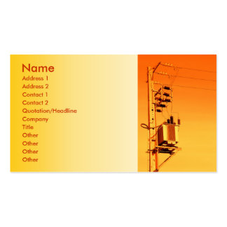Electricity distribution equipment business card