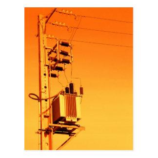 Electricity distribution equipment postcard