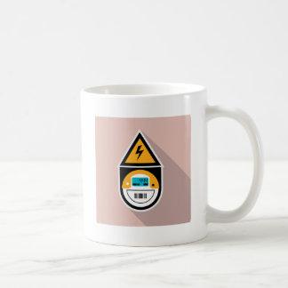 Electricity Meter. Digital. Coffee Mug