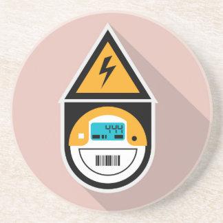 Electricity Meter. Digital. Sandstone Coaster