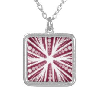 Electricity Square Pendant Necklace