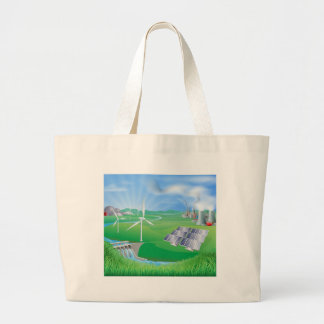 Electricity or power generation methods tote bags