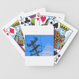 ELECTRICITY POLE RURAL QUEENSLAND AUSTRALIA PLAYING CARDS