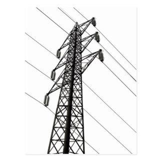 electricity pylon postcard